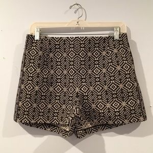 High waisted tribal shorts